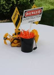 Construction Themed Centerpieces by Construction Themed Party Table Centerpiece Party Styling With