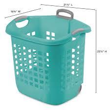 neu home rolling laundry basket with liner walmart com