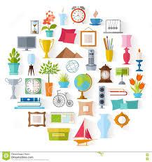 free interior design for home decor vector home decor interior design stock vector illustration of