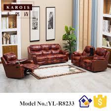 modern electric recliner sofa italian leather sofa set 3 2 1 seat