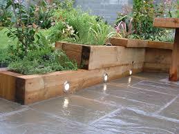 planters extraordinary wooden garden planters raised wooden