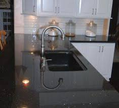 black countertop with black sink unusual stones including black galaxy granite our kitchens