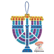 mosaic menorah craft kits hanukkah arts and craft project at