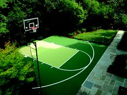 how much does a backyard basketball court cost home outdoor