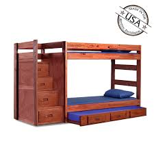 Bunk Bed Trundle Bed Bunk Bed Reversible Storage Stairs Optional Trundle Bed