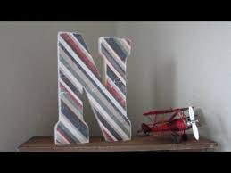 diy distressed wooden letter youtube