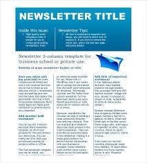 newsletter format word newsletter template 31 free printable