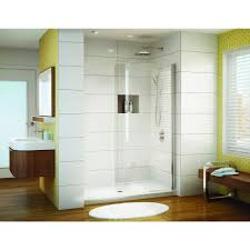 curved glass shower door discobath fleurco banyo siena solo 38