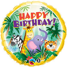 birthday helium balloons jungle animals theme balloon helium balloon deliveries happy