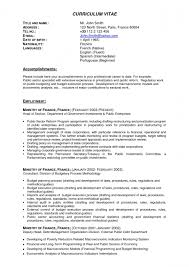 resume format experienced mba application resume format