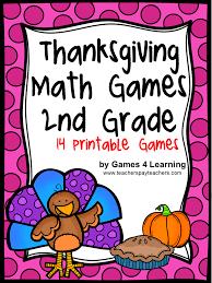 4 learning thanksgiving math