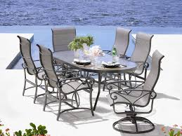 Patio Table With Umbrella Hole Winston Obscure Glass Aluminum 76 U0027 U0027 X 42 U0027 U0027 Oval Dining Table With