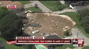 Sinkhole Map Of Florida by Sinkhole Swallows 2 Homes In Land O U0027 Lakes Officials Provide