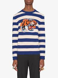 sweater with gucci striped wool sweater with tiger 1 350 buy