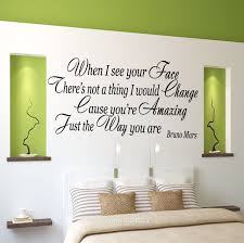 diy room decor wall art cheap cute projects and more youtube aliexpress com buy hot when i see your face bruno mars quote wall art stickers decal