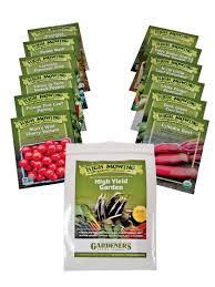 high yield vegetable garden organic seeds gardeners com