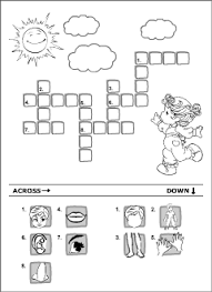 body vocabulary for kids learning english printable resources