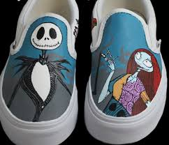 nightmare before slip on painted canvas shoes
