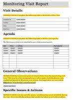 monitoring visit report template monitoring and evaluation early learning toolkit