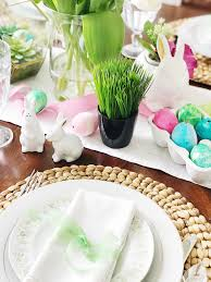Easter Table Setting Simple Fresh And Pretty Springtime And Easter Table Setting Ideas