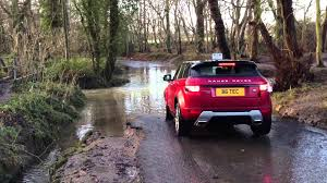land rover water range rover evoque wading 21 12 2012 youtube