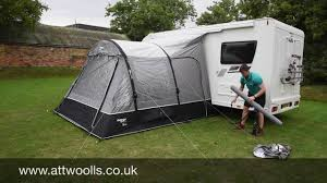 Sunncamp Drive Away Awning How To Pitch A Inflatable Drive Away Awning Tutorial Video Youtube