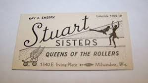 business cards milwaukee 1930s 1940s roller skating business card milwaukee wi ebay
