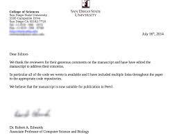 cover letter scientific article