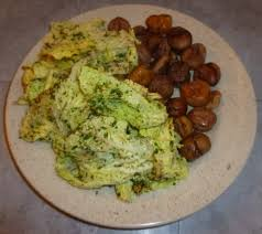 cuisiner du choux vert recette châtaigne au chou vert gras