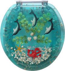decorative toilet seat nautical dolphin lobster design