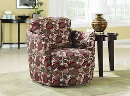 Swivel Accent Chair Oblong Pattern Fabric Swivel Accent Chair By Coaster 900406