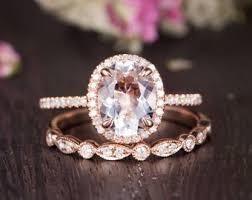 classic crystal ring holder images Rose gold engagement ring etsy jpg