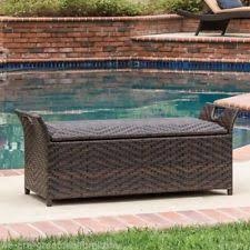 Patio Storage Ottoman Patio Ottomans And Poufs Ebay