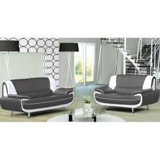 ensemble canapé 3 2 ensemble canapé 3 2 plces gris et blanc design muza achat vente
