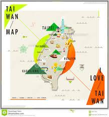 Map Of Taiwan Taiwan Travel Map Stock Vector Image 60959501