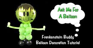 frankenstein buddy balloon decoration halloween youtube
