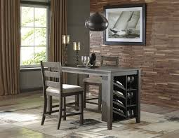 counter table with storage rokane rect counter table w storage 2 uph barstools d397 32