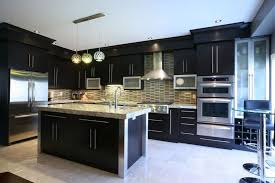 Black Stained Cabinets Watchwrestlingus - Black stained kitchen cabinets