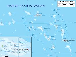 Map Of Oceania Physical Map Of Marshall Islands Ezilon Maps