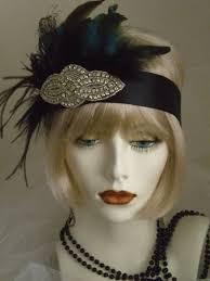 flapper headband 1920s headpiece flapper headband gatsby peacock feathers