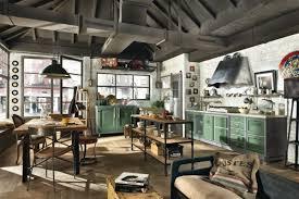 cuisine metal meuble vintage en cuisine 30 photos d îlots très stylés