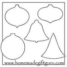 printable ornament shapes free printable christmas gift