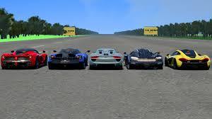 porsche hypercar ac hyper car drag race laferrari vs porsche 918 vs mclaren p1