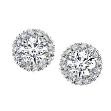 diamond earring jackets husar s house of diamonds 14kt white gold diamond earring