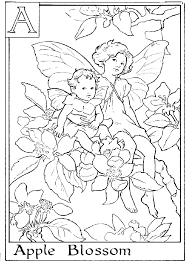 alphabet flower fairy coloring pages getcoloringpages