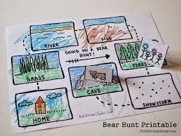 3 easy bear hunt activities with printables pink stripey socks