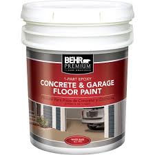 Epoxy Products Behr Premium 5 Gal White 1 Part Epoxy Acrylic Concrete And Garage