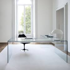 White Glass Desks by Use Glass Furniture For A Sophisticated Look Modern Glass Desk