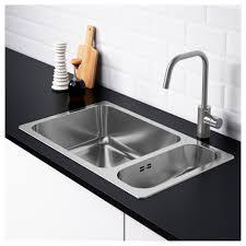 Inset Sinks Kitchen by Hillesjön Inset Sink 1 1 2 Bowl Stainless Steel 75x46 Cm Ikea