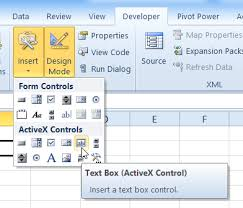 how to create excel worksheet vba text box